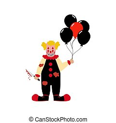 Evil clown illustration