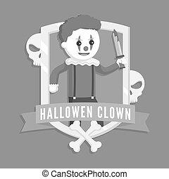 Evil clown logo vector illustration design