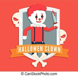 evil clown logo