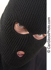 criminal - evil criminal wearing military mask