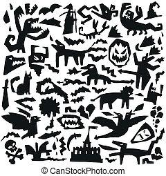 evil doodles