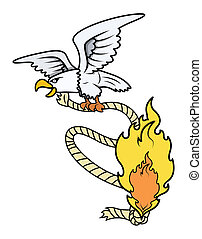 Evil Eagle with Burning Rope