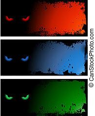 Evil eye backgrounds - Evil eye grunge style backgrounds