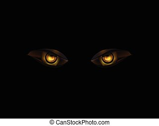 evil eye on black vector background illustration