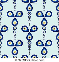 Evil eye vector pattern.