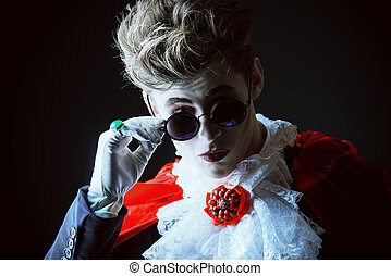 evil fashion - Bewitching handsome male vampire. Halloween....