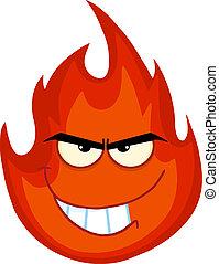 Evil Fire Cartoon Character