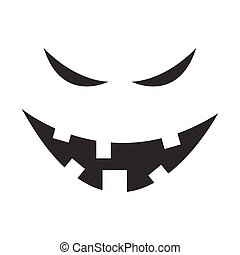 Evil Ghost Face Vector Graphic Illustration Design
