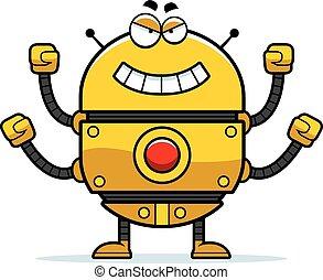 Evil Gold Robot