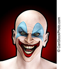 Evil Halloween Clown - An very evil looking clown for...