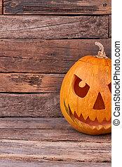 Evil Halloween pumpkin.