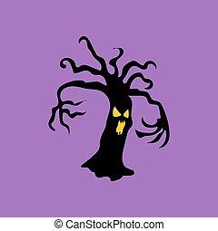 Evil halloween tree