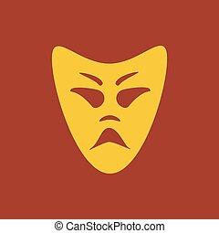 Evil mask illustration