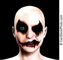 Evil Psychotic Female Clown - A totally evil psychotic...