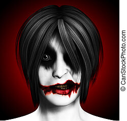 Evil Psychotic Women - Close up image of a psychotic female...