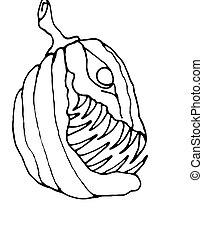 Evil Pumpkin Outline - Halloween Design