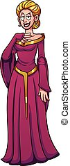 Evil queen character. Vector clip art illustration with ...