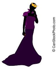 Evil Queen Silhouette Illustration