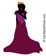 Evil Queen Silhouette Illustration