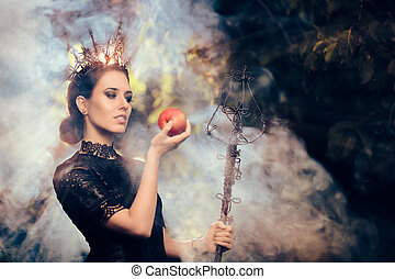Evil Queen with Poisoned Apple - Beautiful dark princess ...