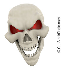 Evil Skull Face - 3D Render of a Halloween Evil Skull Head