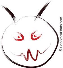 evil smiley face sketch