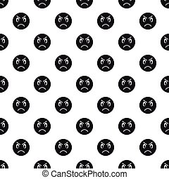 Evil smiley pattern, simple style