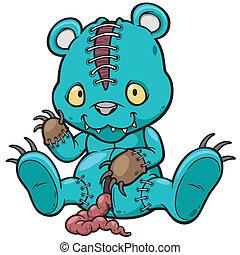Evil teddy bear - Vector illustration of Evil teddy bear