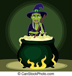 Evil Witch Cauldron