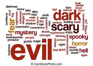 Evil word cloud concept