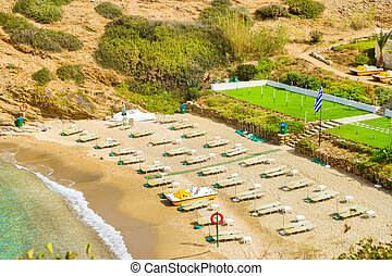 Evita & Karavostasi Beach in resort Bali, Crete - Sandy...