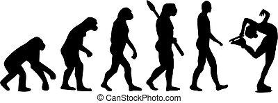 evolução, figura patinar