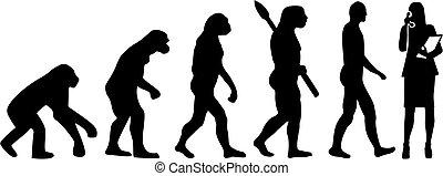 evolução, secretária
