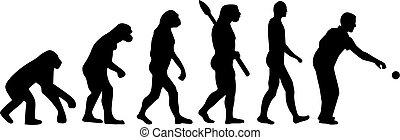 evolución, boccia