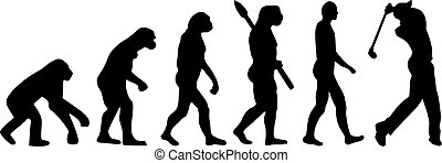evolución, golfing