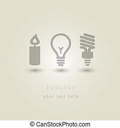 evolución, iluminación