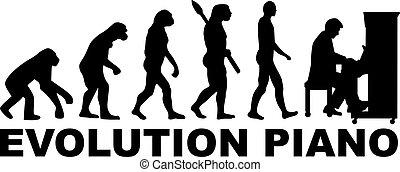 evolución, piano
