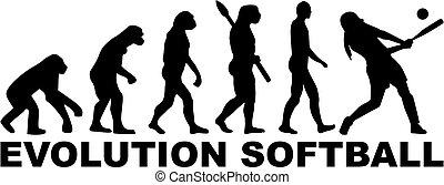 evolución, sofbol