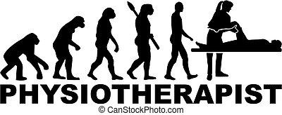 evolutie, therapist, werk, title., lichamelijk
