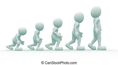 Evolution - 3d people icon suggestion evolution - This a 3d...