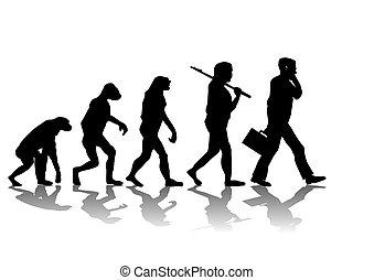Abstract vector illustration of evolution