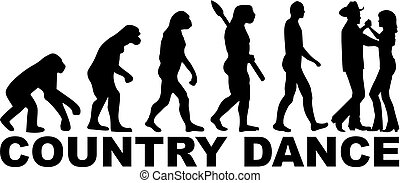 Evolution country dancing