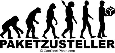 Evolution delivery man. german