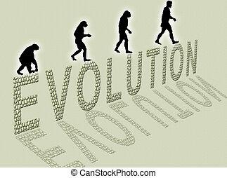Evolution - Illustration about man�s evolution and a...