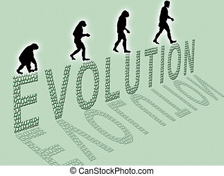 Evolution - Illustration about man�s evolution and a...