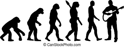 Evolution of acoustic guitar player