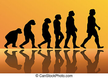evolution of man - Abstract background of the evolution of...