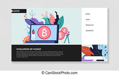 Evolution of money cash and bitcoin web page Internet site