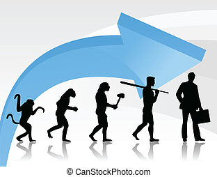 Evolution of the person2 - Evolution from a monkey to the...