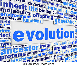 Evolution poster background design. Biological organisation...